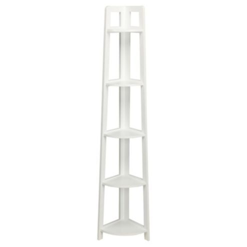 Sheringham White Wood 5 Tier Corner Shelving Unit | Nursery Art ...
