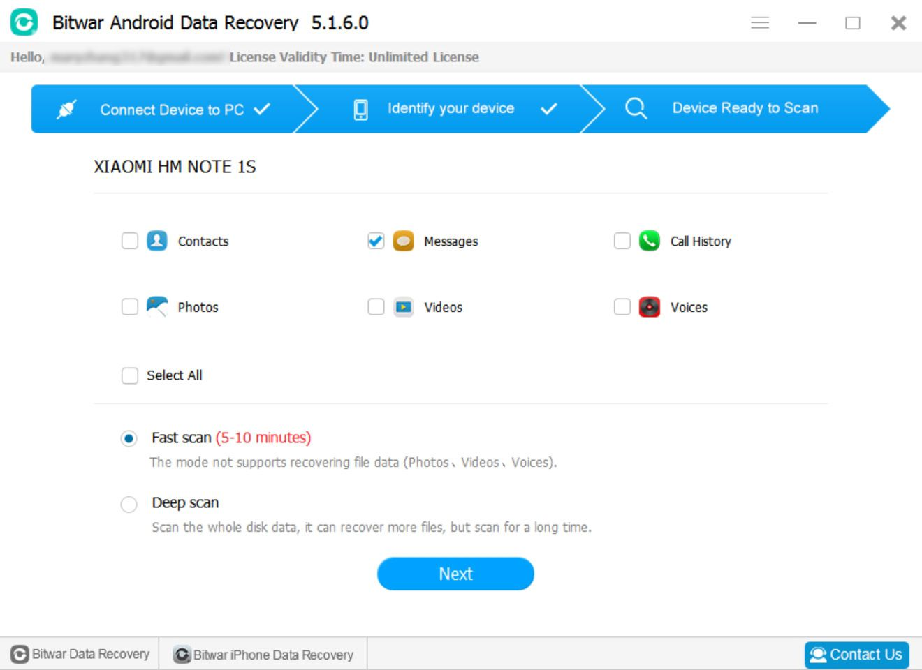 1 Bitwar Android Data Recovery -SMS,Messages recovery | best free