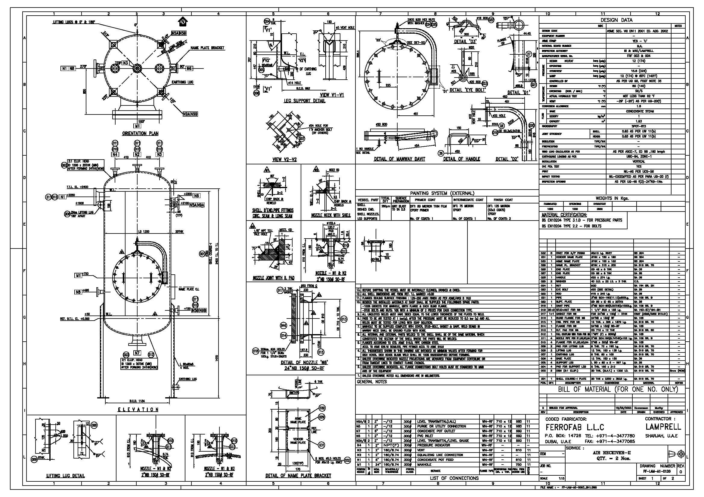 Sample blueprint for pressure vessel design details machines sample blueprint for pressure vessel design details malvernweather Image collections