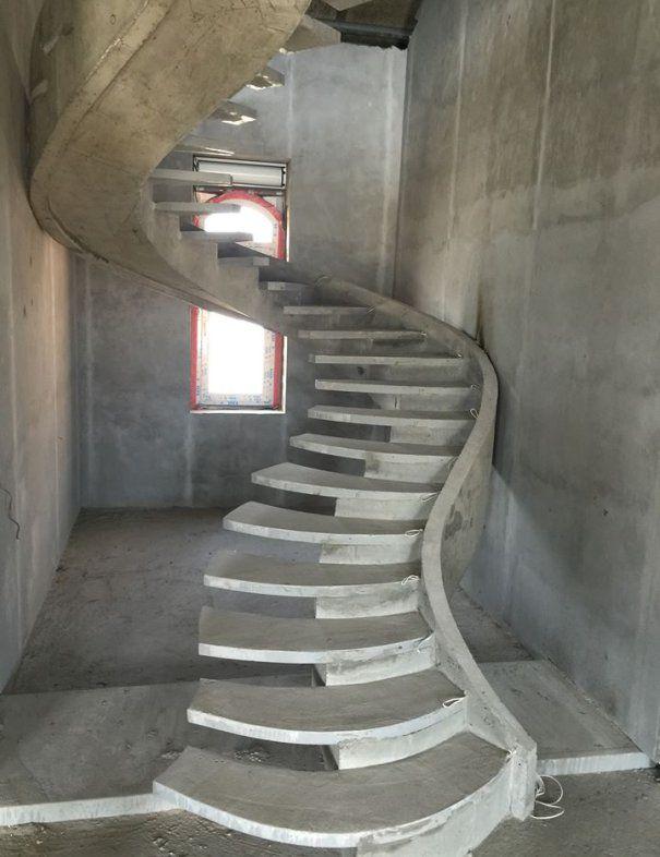 Архитектурный бетон лестница бетон в новомихайловке