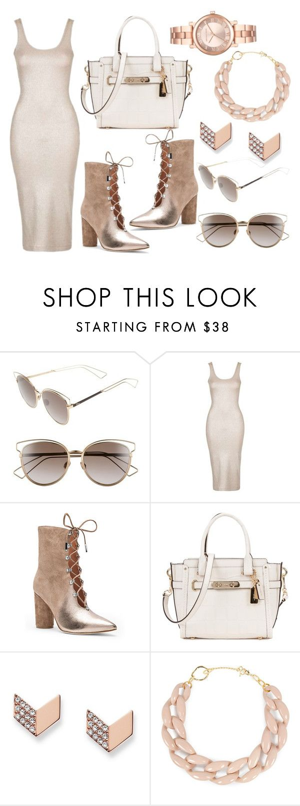 """""""🔐"""" by lucya-knight ❤ liked on Polyvore featuring Christian Dior, Topshop, Sigerson Morrison, Coach, FOSSIL, DIANA BROUSSARD and Michael Kors"""