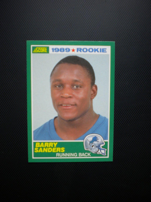 signed barry sanders football card