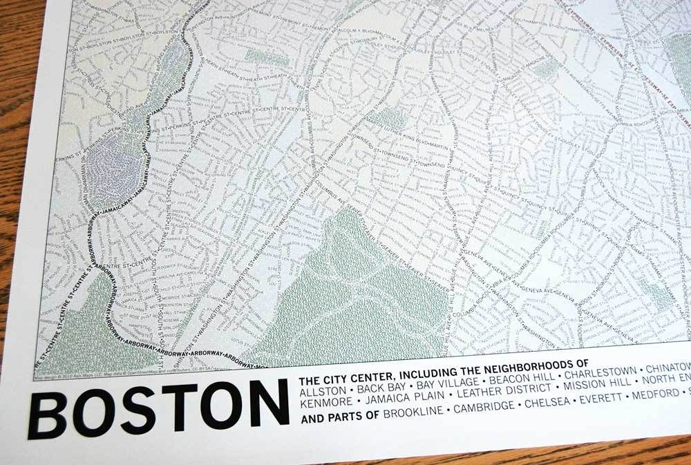 30 boston typographic portrait hooray for typing along a path
