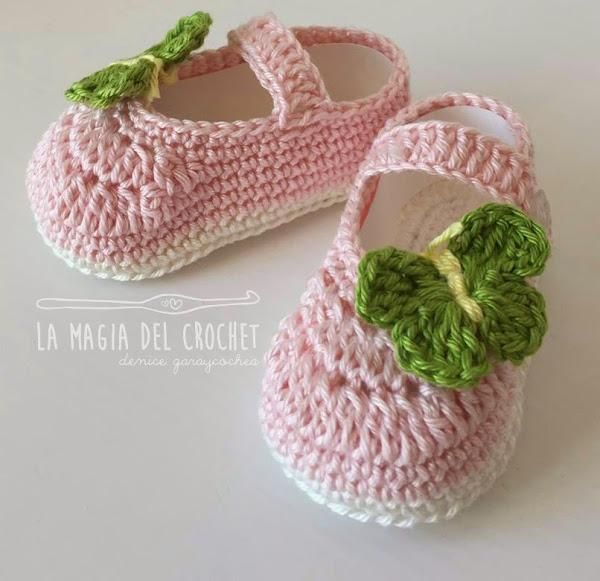 Zapatitos a crochet para bebé de 6 a 9 meses. ¡Adorables! | Zapatos ...