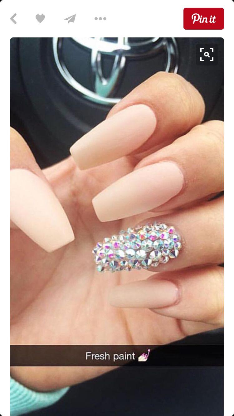 Matte nude coffin nail | Nails | Pinterest | Nagelschere, Gelnägel ...