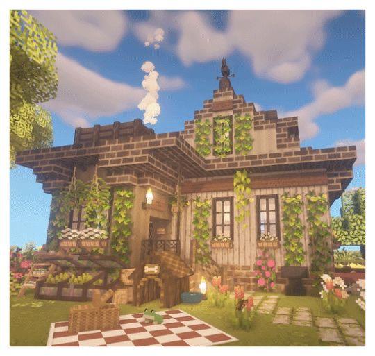 Pin By Lara H On Minecraft Fairy Village In 2020 Cute Minecraft Houses Minecraft Cottage Minecraft Construction