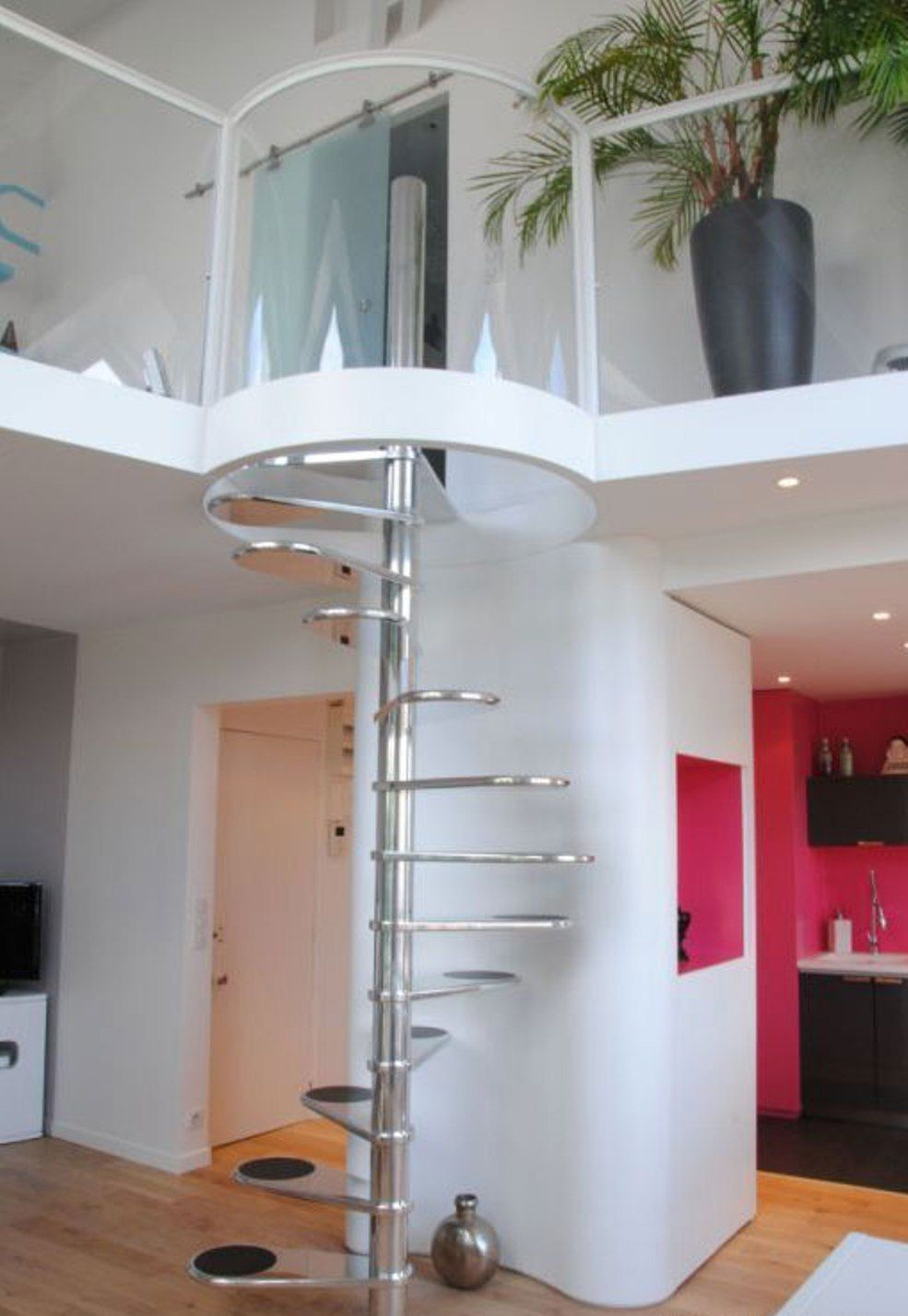 Top Interesting Modern Living Room Spiral Staircase Multitude | Spiral Staircase To Attic Bedroom | Loft Bedroom | Tight Space | Design | Before And After | Attic Ladder