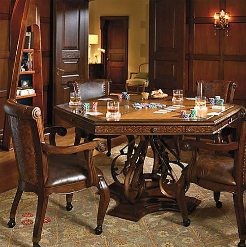 Frontgate Saratoga Game Table And Chairs Game Room Furniture