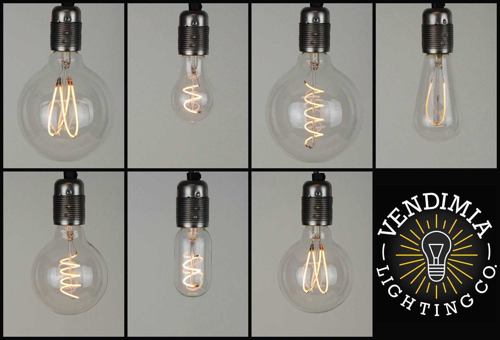 Vintage Industrial Stil Flexible Led Filament Edison Gluhbirne E27 Es Schraube Lampe 4w Mit Stoffkabel Vintage Industrial Style Industrial Style Vintage Industrial