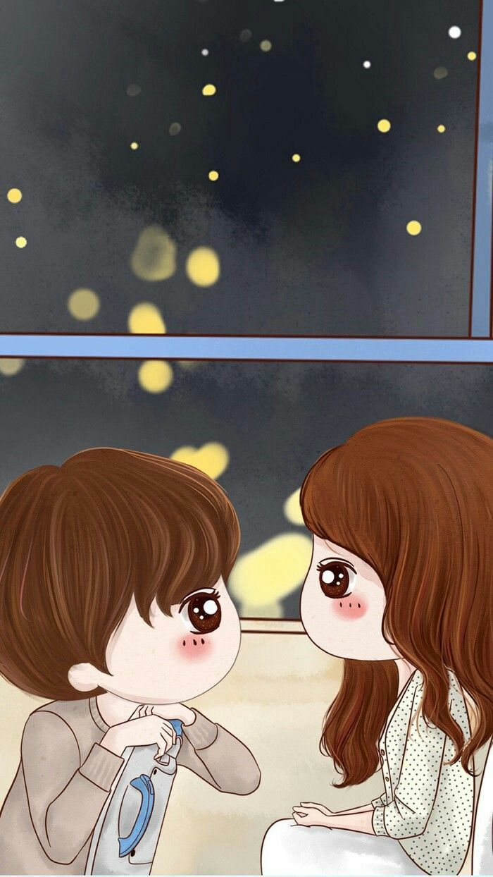 Kawaii Couple In 2020 Cute Couple Wallpaper Love Couple Wallpaper Couple Wallpaper
