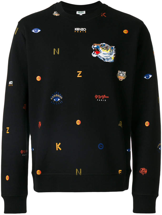 03932462fbee Kenzo multi icon sweatshirt   Products in 2018   Pinterest   Kenzo ...