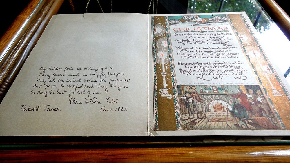 1931 Christmas Card With Message From Lady Flora McCrea
