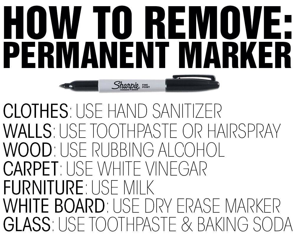 How To Remove Sharpie From Countertop How To Remove Permanent Marker Home General Pinterest Remove