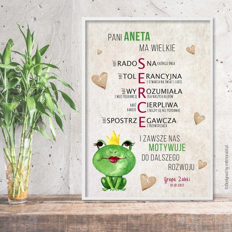 Wielkie Serce Zabki Plakat Dla Nauczyciela Teachers Day Gifts Diy And Crafts Diy