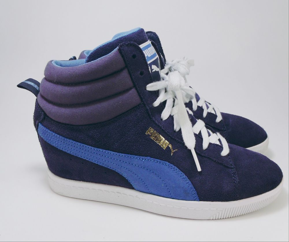 aebba7309099dc Womens Puma Blue High Top Sneakers Size 9  fashion  clothing  shoes   accessories  womensshoes  athleticshoes (ebay link)