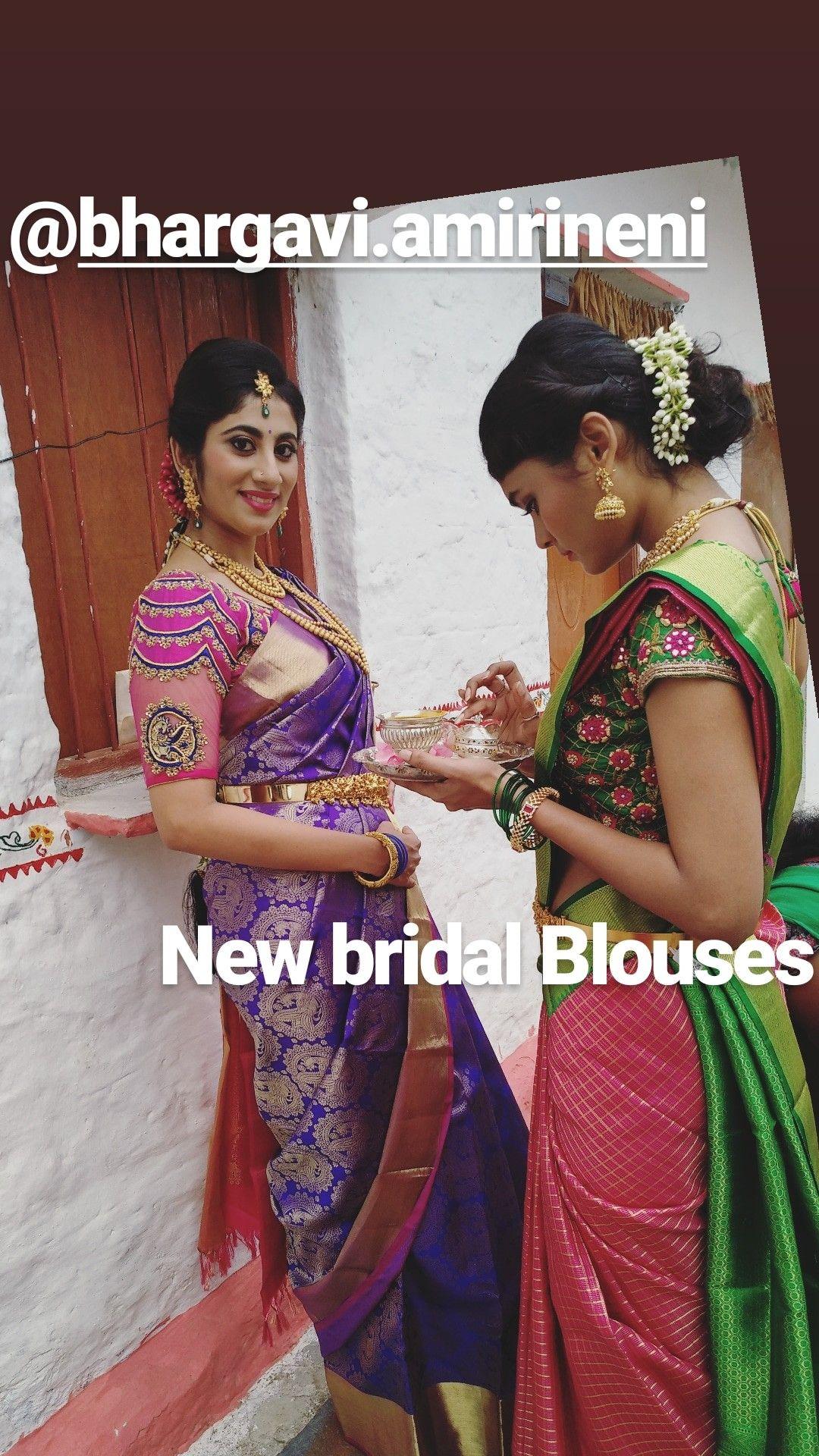 Silk saree blouse designs without embroidery pin by bhargavi amirineni on bhargavi amirineni blouses  pinterest