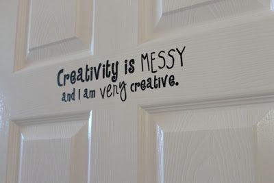 Creativity Is Messy Fun Sign For A Kid S Bedroom Or Playroom Made With Silhouette Vinyl Door Signs Diy Bedroom Door Signs Craft Room