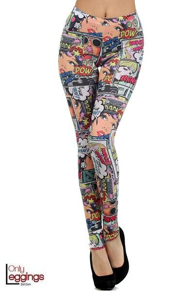 Only Leggings - Girl Power Cartoon Leggings, $32.00 (http://www.onlyleggings.com/girl-power-cartoon-leggings/)