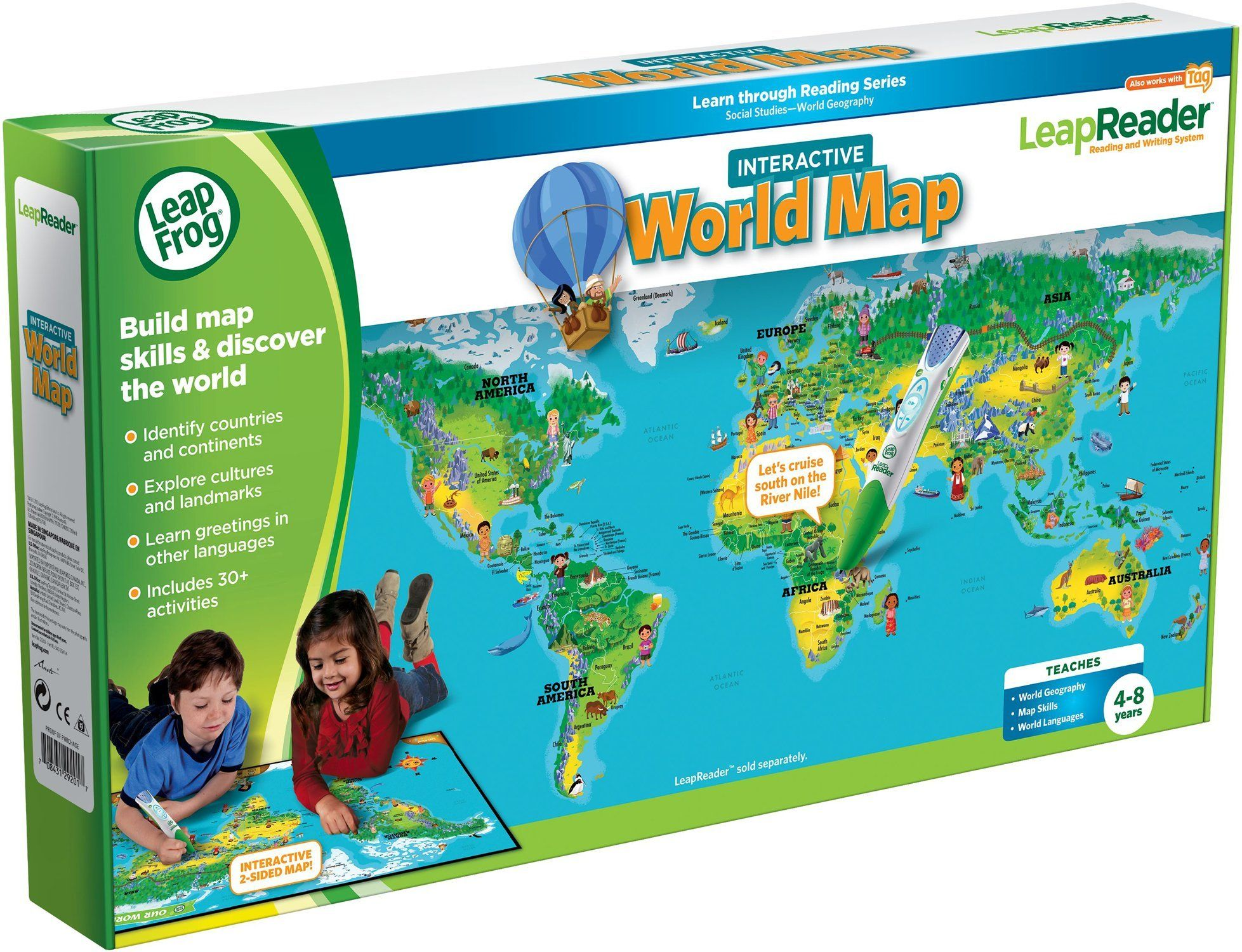 20 leapfrog leapreader interactive world map works with tag toys 20 leapfrog leapreader interactive world map works with tag toys games gumiabroncs Gallery