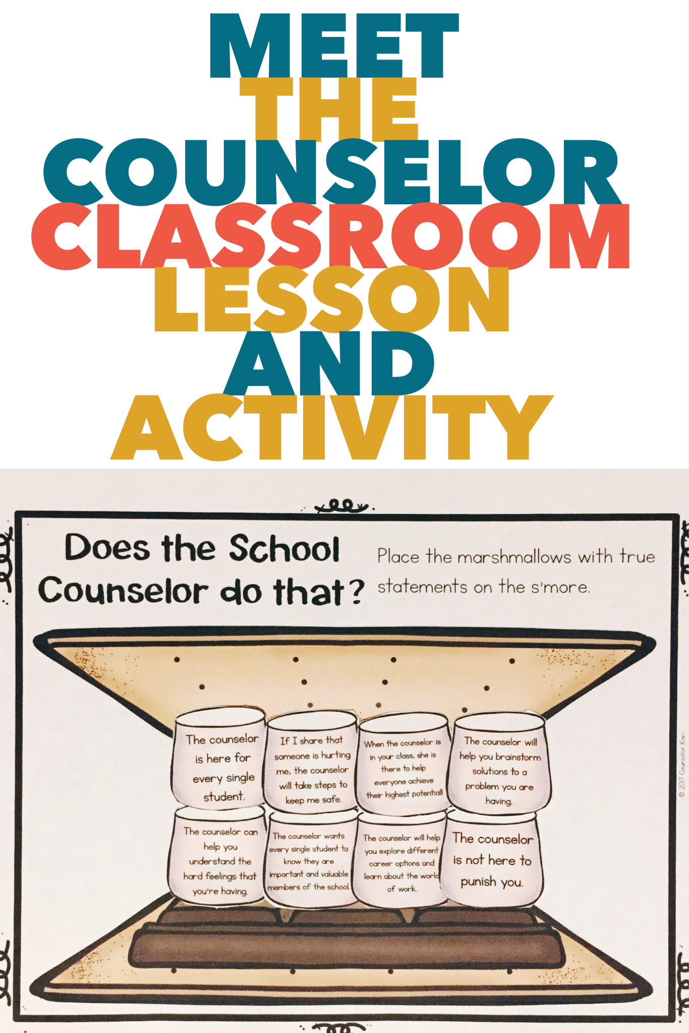 Meet The Counselor Activity Classroom Guidance Lesson For