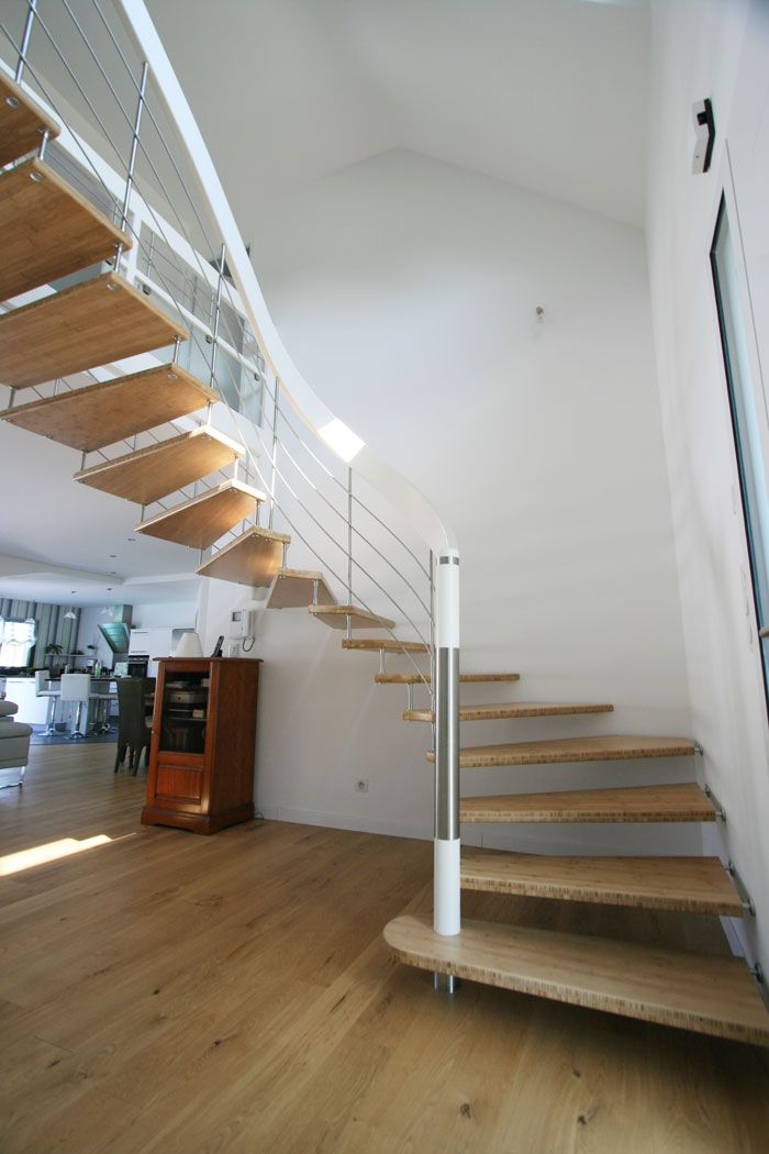 Escalier potier prix modele escalier moderne haus design for Tarif escalier bois
