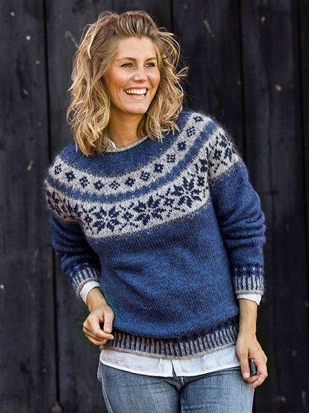 Sweater med stjernebort - Hjelholts designs - Hjelholts Uldspinderi