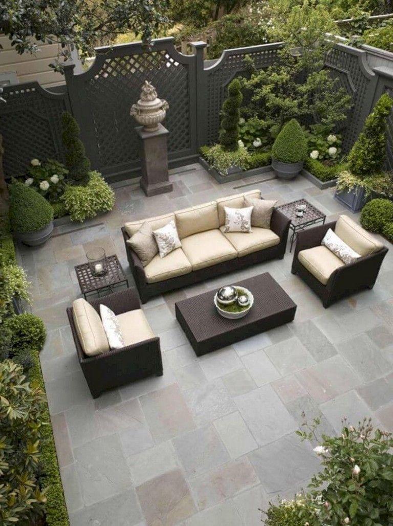 Jardin Classique À La Française 46+ cozyy backyard patio design and decorating ideas