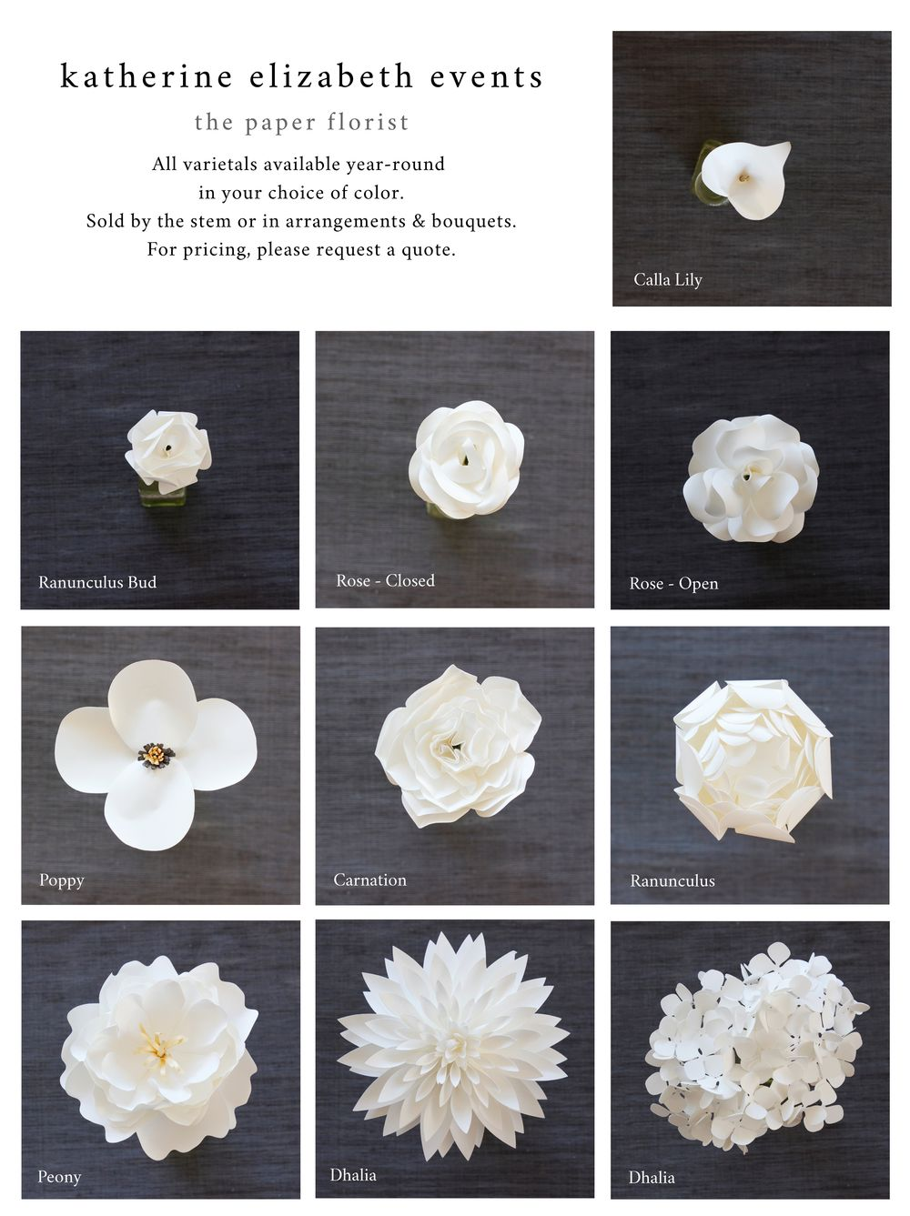 So easy to pick out which flowers to go with these are all made out so easy to pick out which flowers to go with these are all made out of paper and come in literally every color izmirmasajfo