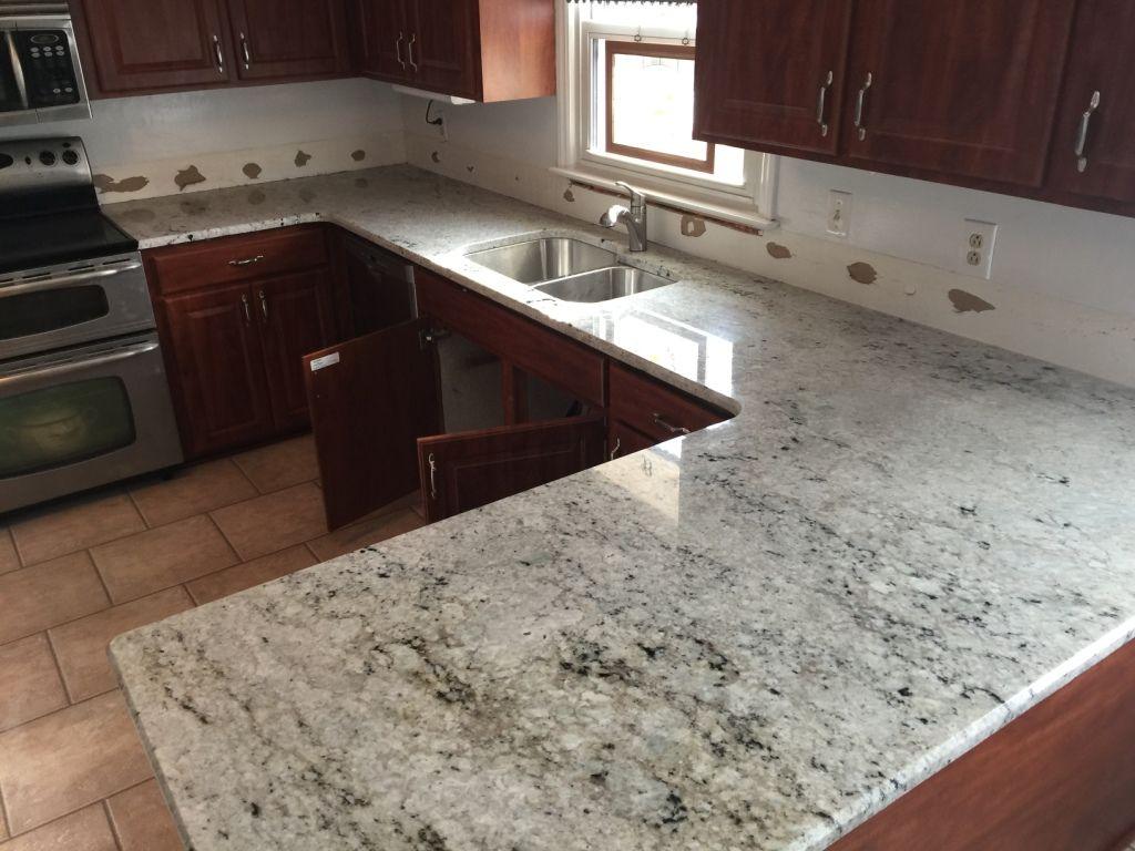 Colonial White Granite Counters Kitchen White Granite Kitchen