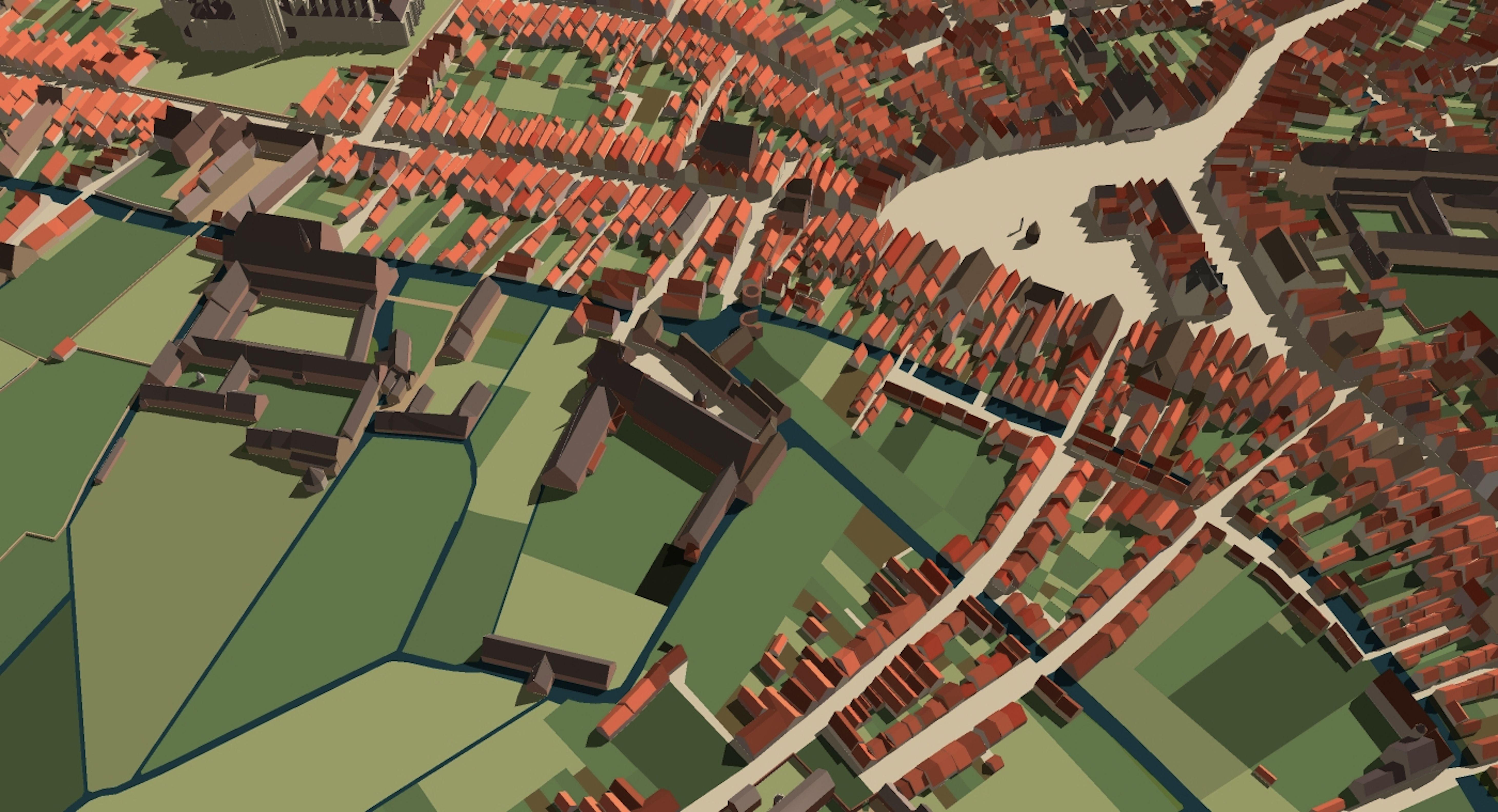 Digital reconstruction township of u0027s Hertogenbosch in the