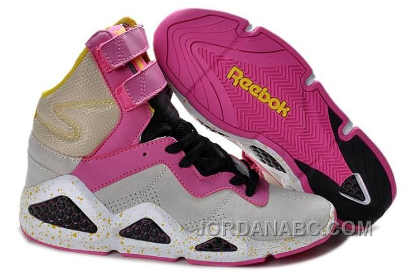 san francisco e688b 5ddc2 Sale Cheap Reebok CL Chi-Kaze Basquiat Womens shoes Grey Pink Black Newest  Now
