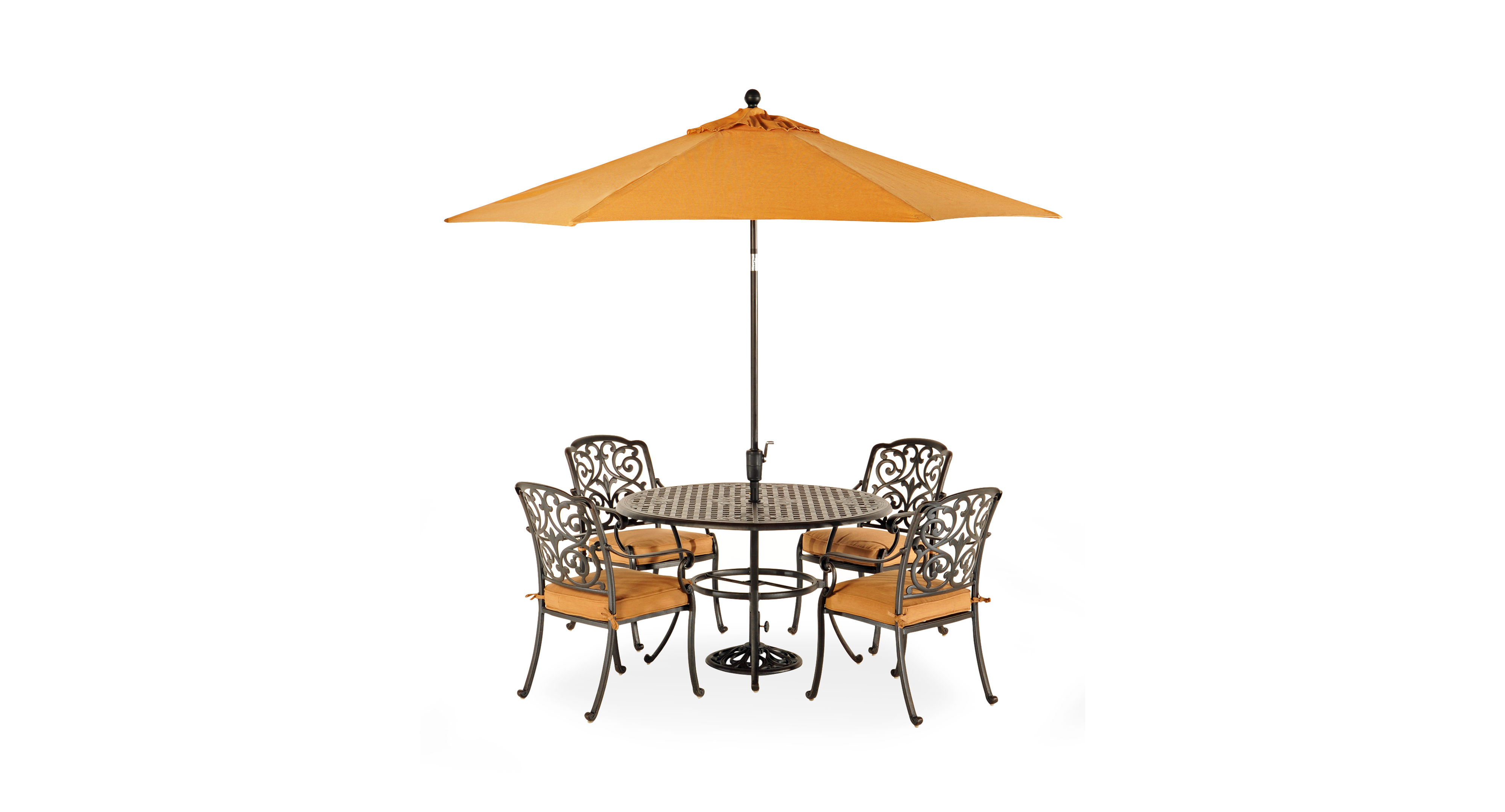 Round dining table and chairs for 4  Montclair Outdoor  Piece Dining Set