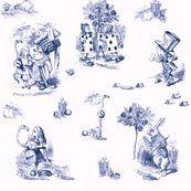 Alice in Wonderland toile - Spoonflower