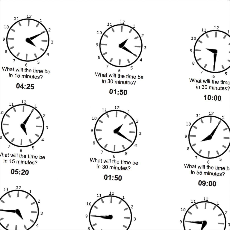 Math Worksheets: Five Minute Time Addition | Math Worksheets ...