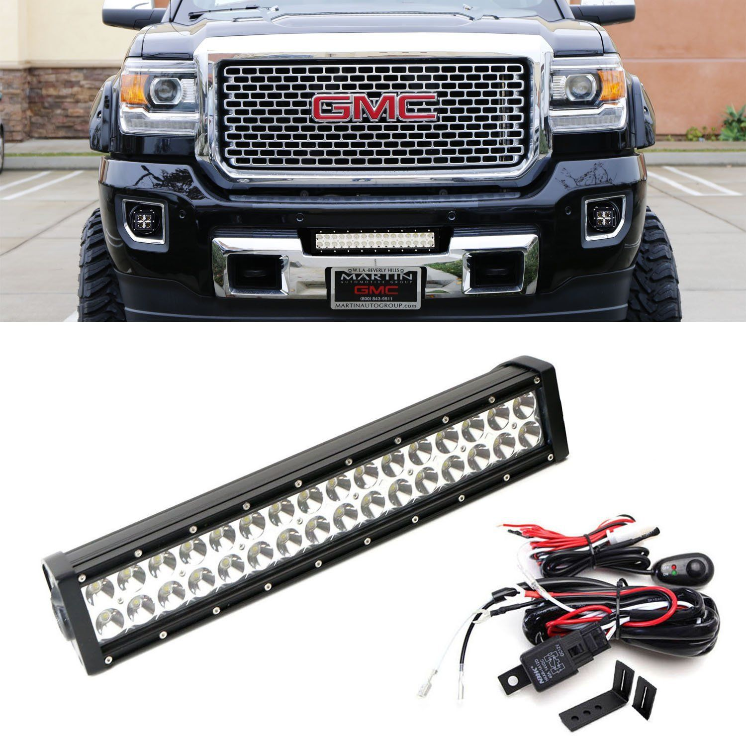 Ijdmtoy High Power Double Row Led Light Bar With Hidden Lower