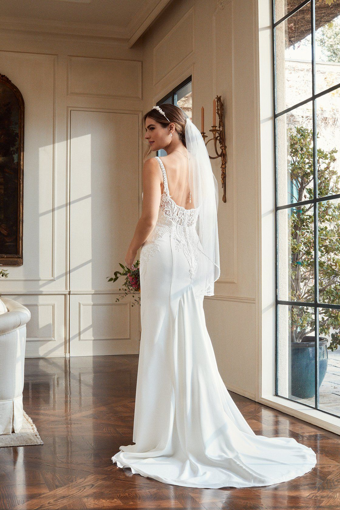 Back out wedding dresses  The details on this glamorous mermaid wedding dress are stunning We
