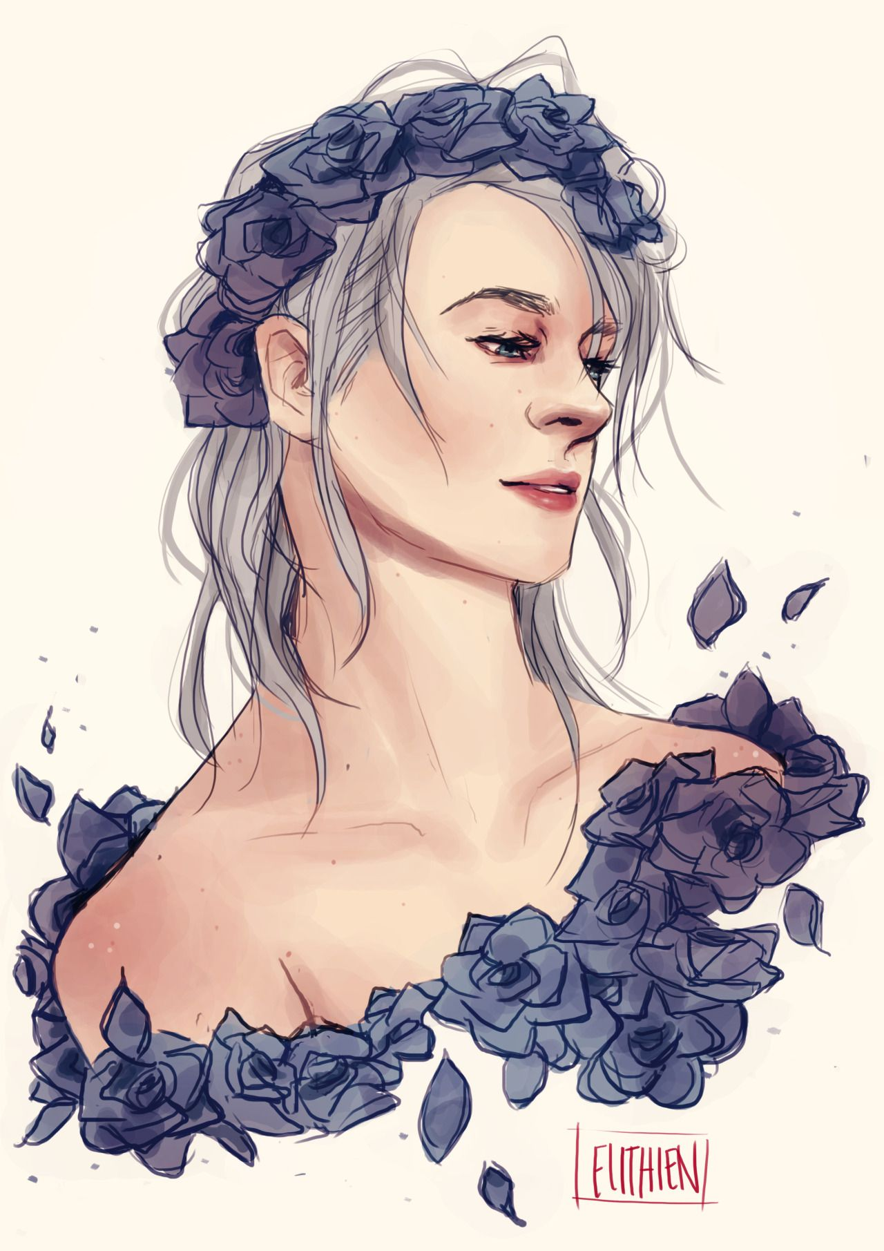 Victor is a such a beautiful creature uwuDo not RepostFacebook || Instagram || Etsy |... - #a #all #artists #crown #drawing #elithienart #flower #ice #Imma #in #meeeeep #nikiforov #on #other #slip #the #víctor #With #yoi #yoiart #yuri