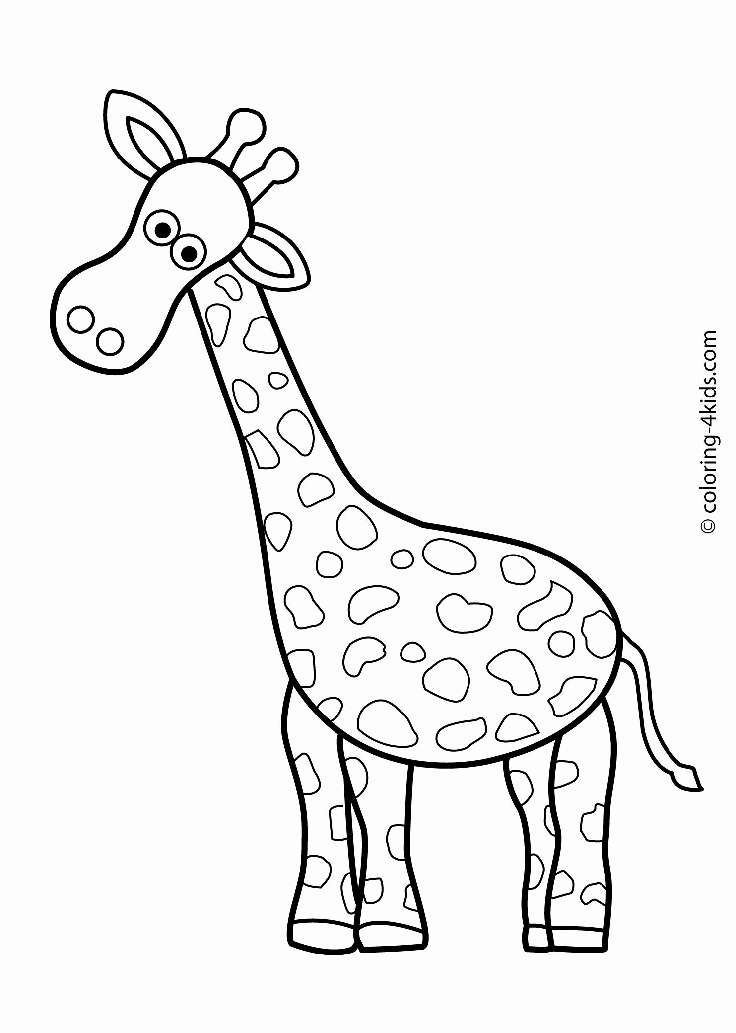 Giraffe Head Coloring Page Inspirational Animals Coloring Pages
