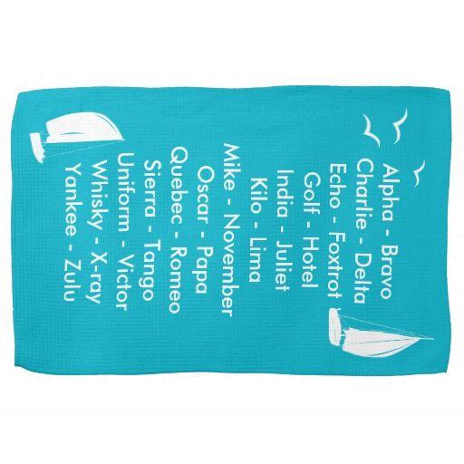 Nautical phonetic alphabet radio language hand towel ideal gift nautical phonetic alphabet radio language hand towel ideal gift for anybody learning the phonetic alphabet altavistaventures Gallery