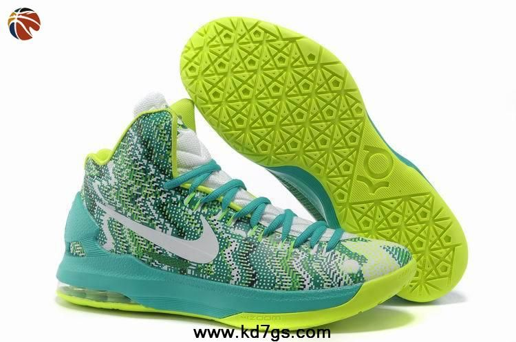 Sale Discount iD Offers New Graphic Pattern White Gorge Green 554988 003  Nike Zoom KD 5 Basketball Shoes Shop