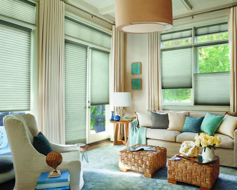 Honeycomb Shades For The Living Room Available At Landry Home Decorating