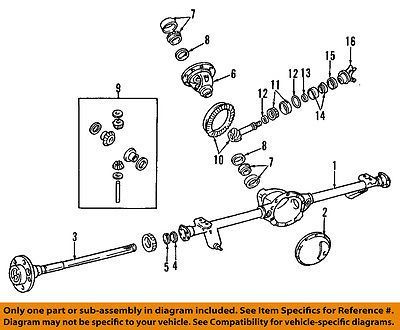 Jeep Chrysler 99 04 Grand Cherokee Rear Diffeial Case 5012808ab Car Truck Parts Transmission Drivetrain Axle