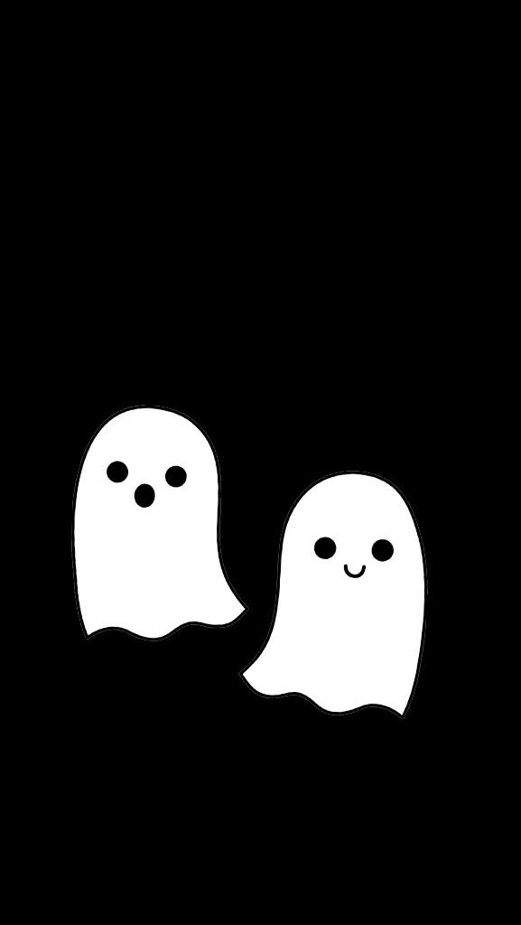 Cute Ghosts On Weheartit Halloween Wallpaper Iphone Fall Wallpaper Halloween Wallpaper