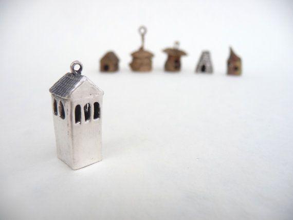Silver geometric Hidden Heart tall watchtower by DreamofaDream, $55.00