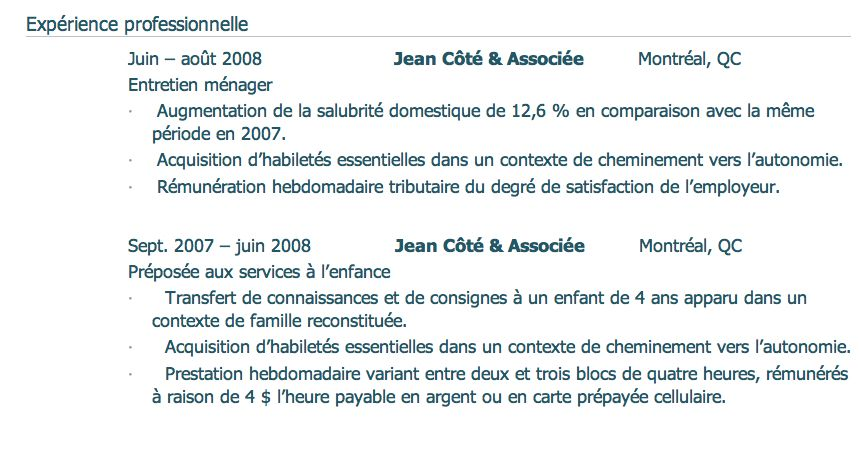 Cv Etudiant Secondaire Quebec Curriculum Vitae Curriculum Cv Etudiant