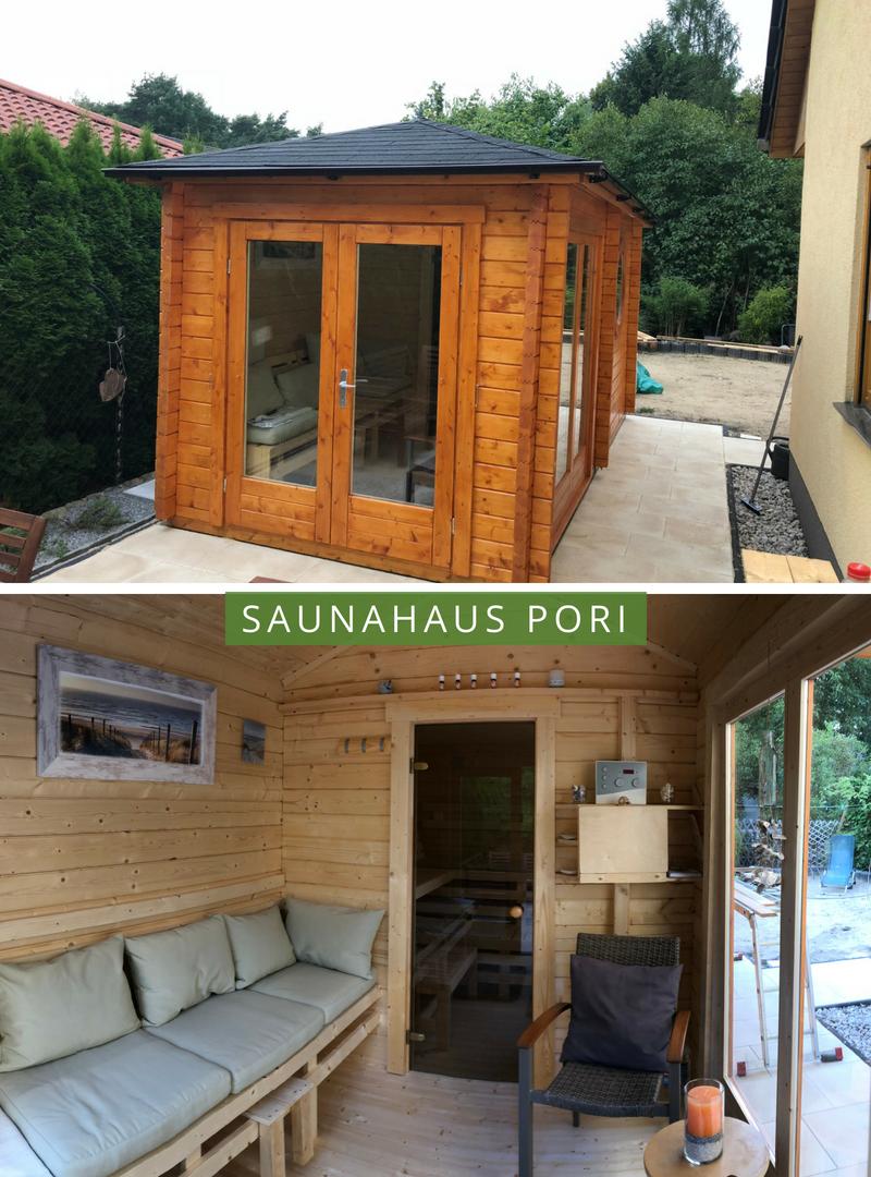 Saunahaus Pori-70 in 2019 | Eine Sauna für den Garten | Outdoor ...