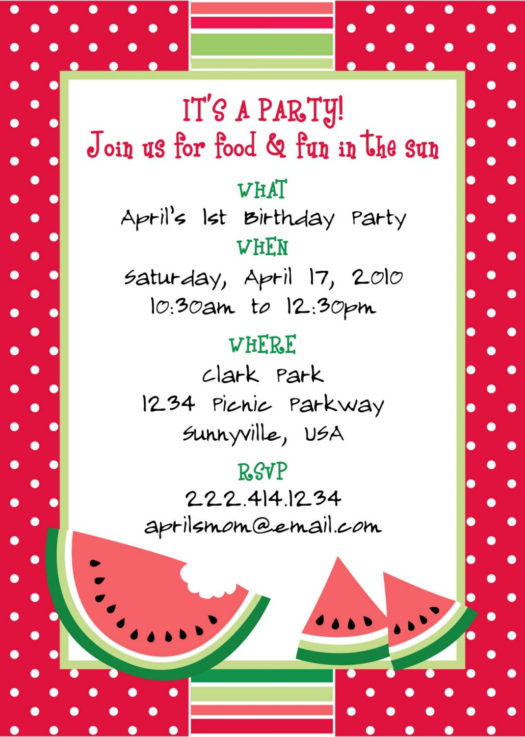 Picnic Invitations Pdf - Invitation Templates