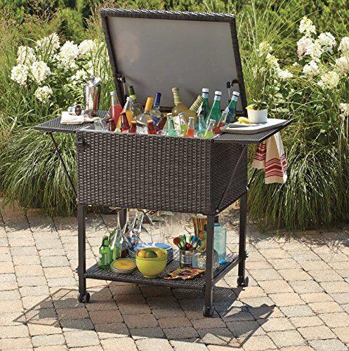 amazon com wicker cooler cart
