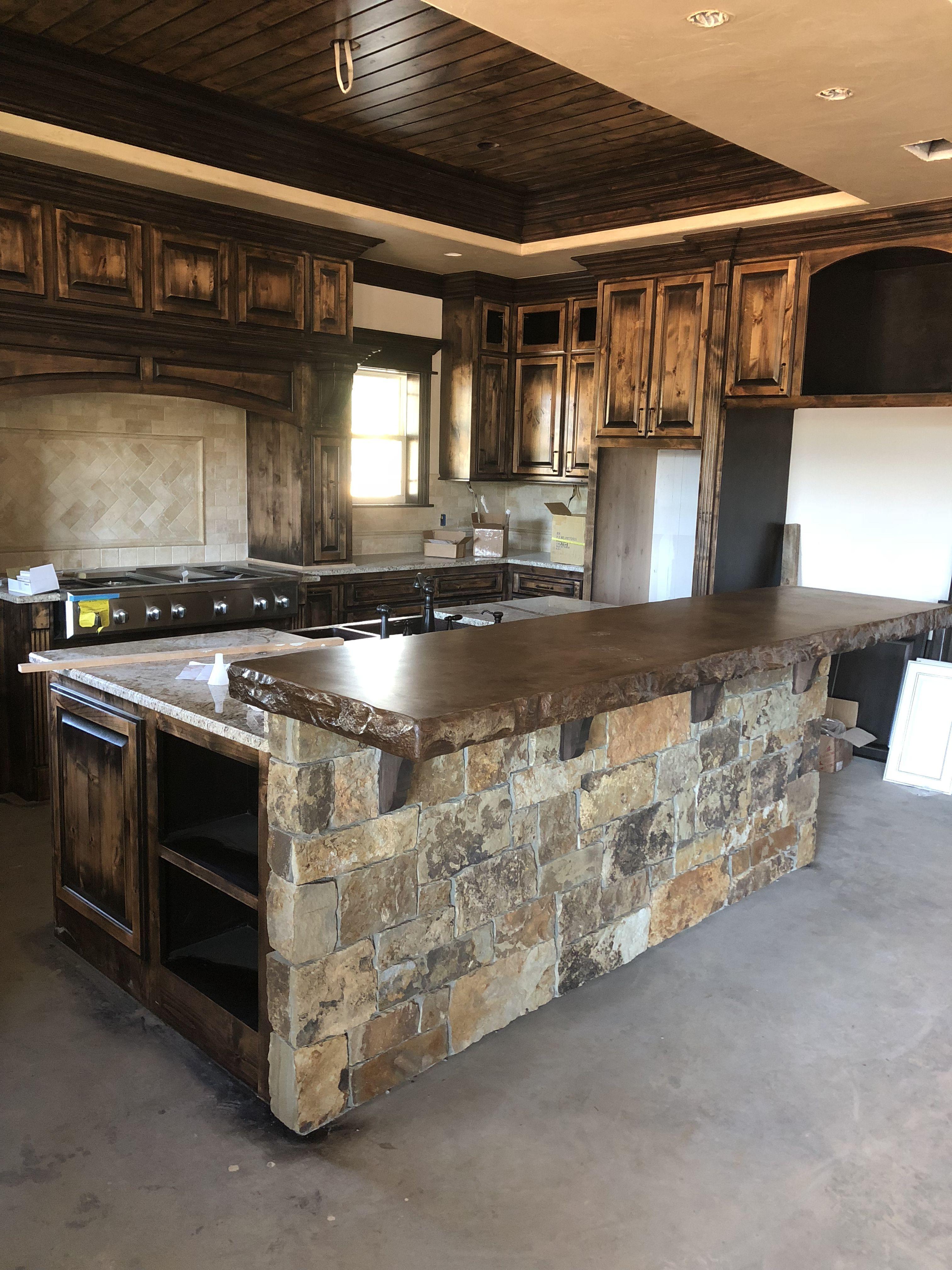 Raisedbar Bar Concrete Countertop Thickconcrete