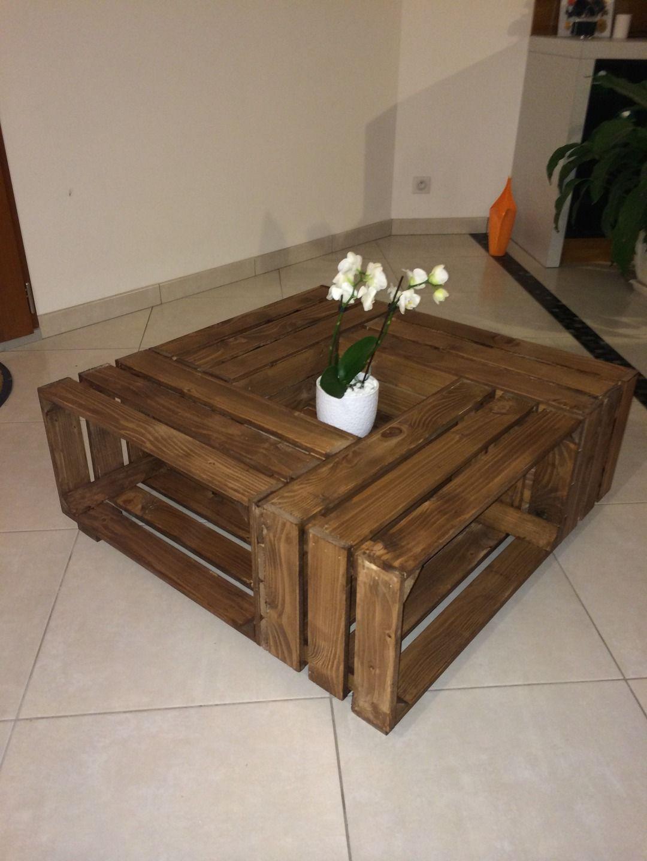Ehrf Rchtige Table Basse Caisse A Pomme Id Es De Conception De  # Meuble Tv En Caisse En Bois